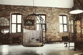 Подвесное Кресло-Клетка в стиле Loft